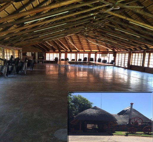 Accommodates 120 people. Hiring price is R1250 for ARC staff and R2500 for external clients. Tables, chairs, kitchen/bar area with refrigerator are supplied. Own catering.  Enquiries: Ayanda Krwece, Tel: +27 (0)12 842 4119, E-mail: KrweceA@arc.agric.za
