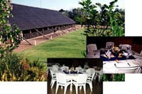 Only 250 plastic chairs, no tables; Kitchen with stoves and fridges; Bar with cold-room; Plants to be hired at the Nursery; No crockery and cutlery; Self-catering; Contact: Nhlanhla Mashigo, Email: NhlanhlaD@arc.agric.za, Tel: +27 (0)13 753 7142